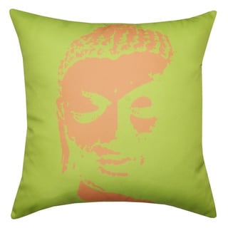 20 x 20-inch Buddha Outdoor Throw Pillow (India)