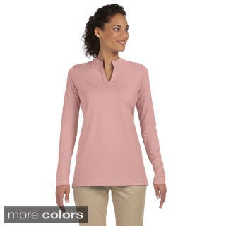 Women's Stretch Jersey Mandarin Collar Tunic