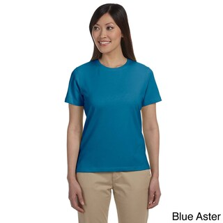 Women's Stretch Jersey Crew Neck T-shirt (Option: S,Blue Aster)