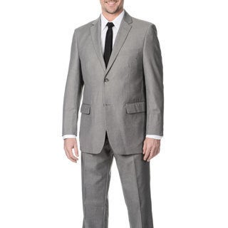 Angelo Rossi Men's Grey 2-button Micro Tech Suit
