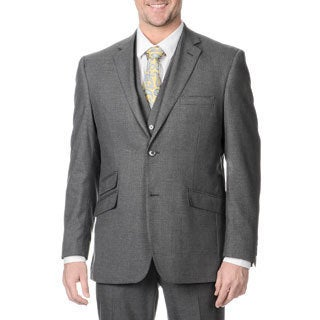 Perry Ellis Men's Slim Fit Medium Grey Sharkskin Suit Separate Blazer