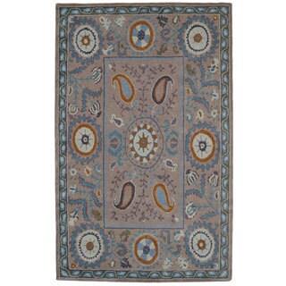Paragon Grey Wool Rug (8' x 11')