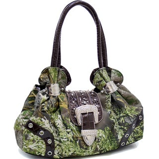 Realtree Rhinestone Buckle Camouflage Shoulder Bag