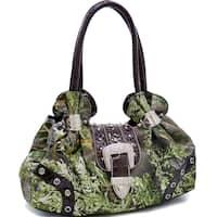Realtree Rhinestone Buckle Camouflage Shoulder Bag