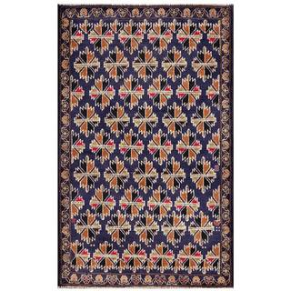 Herat Oriental Semi-antique Afghan Hand-knotted Tribal Balouchi Wool Rug (2'10 x 4'7)