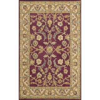 Paragon Burgundy/ Ivory Wool Area Rug (8' x 11')