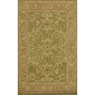 Paragon Sage/ Light Green Wool Rug (8' x 11')
