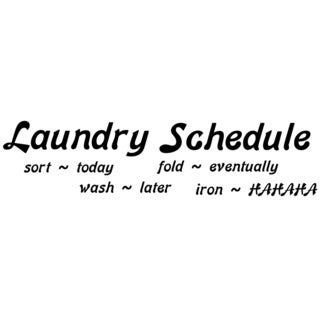 Inspirational Vinyl Wall Art - Laundry Schedule 68 inches wide by 20 inches tall