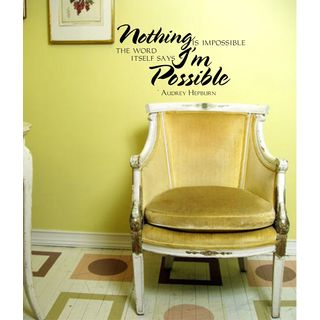 Audrey Hepburn Quote 'Impossible' Inspirational Vinyl Wall Art