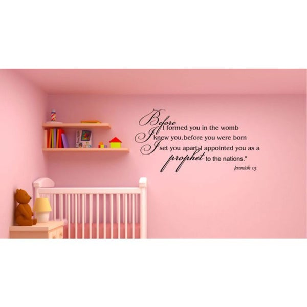Jeremiah 1:5 Inspirational Vinyl Wall Art  Free Shipping On Orders Over $45  Overstockcom - Family Wall Murals