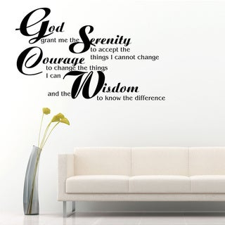 Serenity Prayer Inspirational Vinyl Wall Art