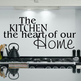 The Kitchen, the heart of our home Inspirational Vinyl Wall Art
