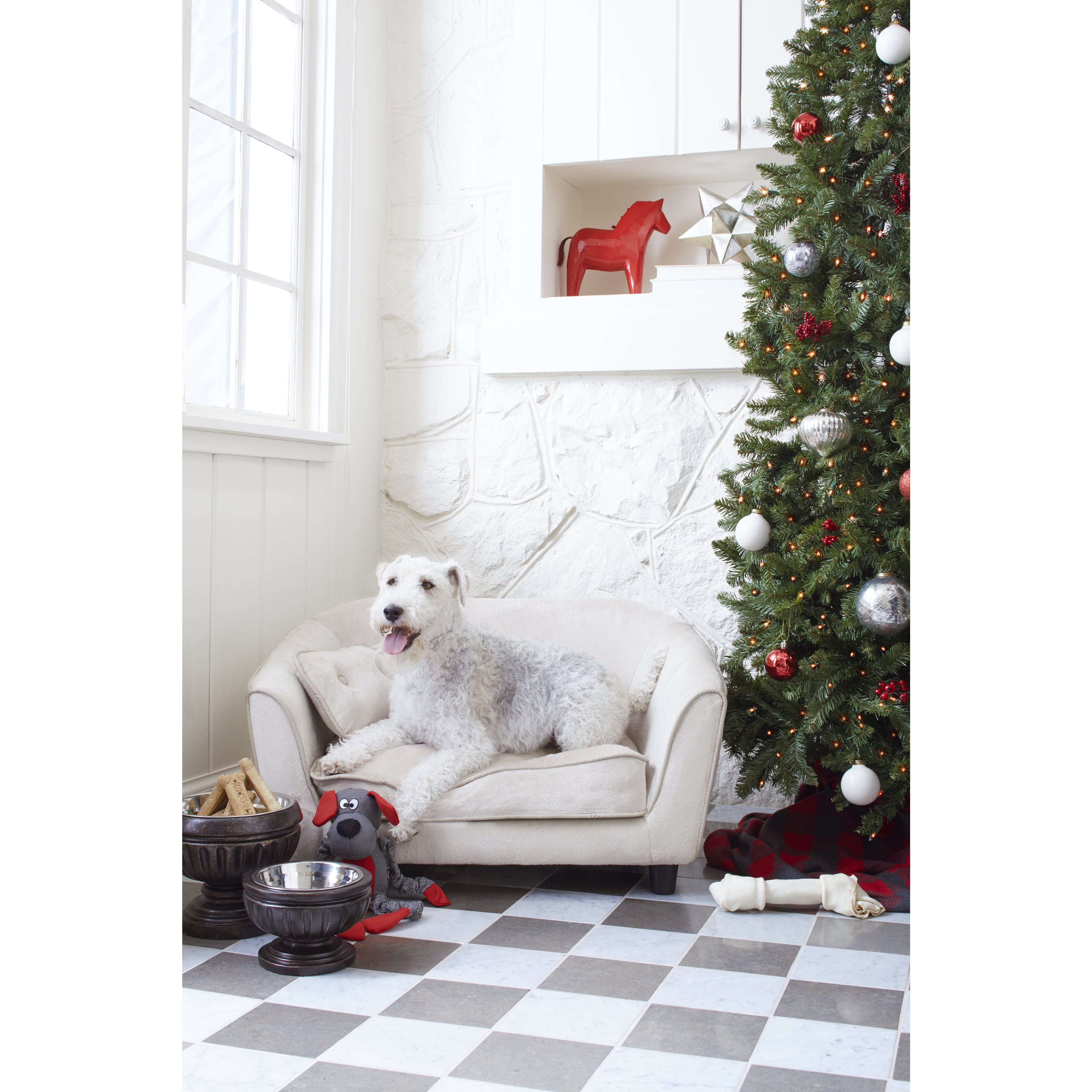 Enchanted Home Pet Astro Furniture Pet Sofa (Oyster), Bei...