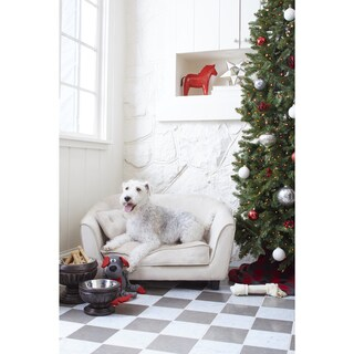 Enchanted Home Pet Astro Off-white Pet Sofa