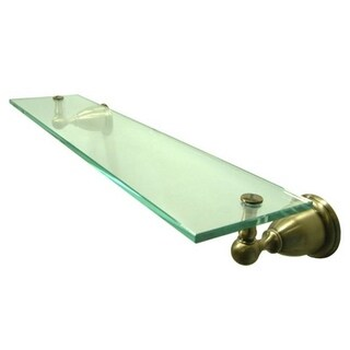 Vintage Brass Glass Bathroom Shelf