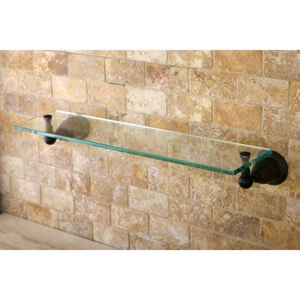 Oil Rubbed Bronze Bathroom Glass Shelf