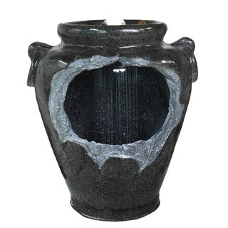 Kelkay Apollo Jug Resin Stone LED Light Fountain