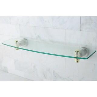 satin nickel polished brass bathroom glass shelf