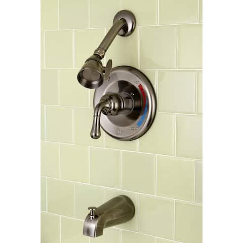 Vintage Nickel Brass Bathtub and Shower Faucet