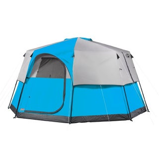 Coleman Weather System Octagon Big Tall Tent (13u0027 x ...  sc 1 st  Overstock.com & Coleman 6-person Instant Cabin Tent with Rain Fly - Free Shipping ...