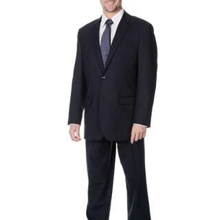 Martino Men's 'Wool Rich' Navy Wool Blend Suit