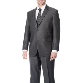 Martino Men's 'Wool Rich' Grey Wool Blend Suit