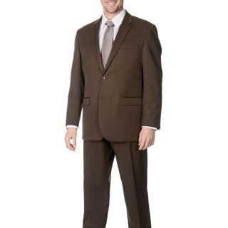Martino Men's 'Wool Rich' Taupe Wool Blend Suit