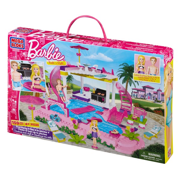 Mega Bloks Barbie Build n Style Pool Party