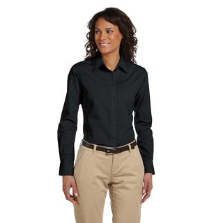 Women's Essential Poplin Long Sleeve Blouse