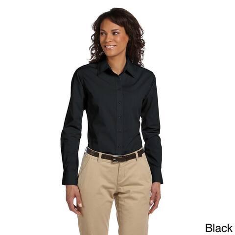 Women's Essential Poplin Long Sleeve Blouse