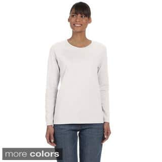 Women's Heavy Cotton Missy Fit Long Sleeve T-shirt|https://ak1.ostkcdn.com/images/products/9031411/Womens-Heavy-Cotton-Missy-Fit-Long-Sleeve-T-shirt-P16231066.jpg?impolicy=medium