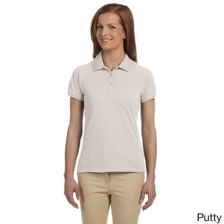 Women's Dri-Fast Pique Polo Shirt (Option: S,PUTTY)