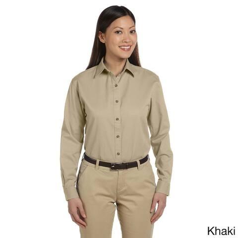 Women's Long Sleeve Titan Twill Button-down Shirt