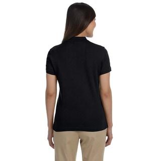 Women's Solid Pima Interlock Polo Shirt