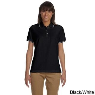 Women's Pima Pique Short Sleeve Polo Shirt (More options available)