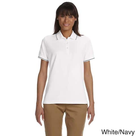 Women's Pima Pique Short Sleeve Polo Shirt