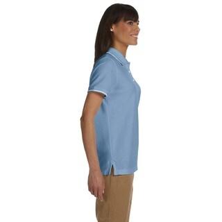 Women's Pima Pique Short Sleeve Polo Shirt