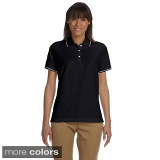Women's Pima Pique Short Sleeve Polo Shirt (Option: White)