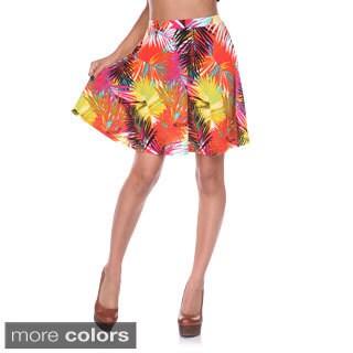 White Mark Women's Floral Skater Skirt (Option: Orange)