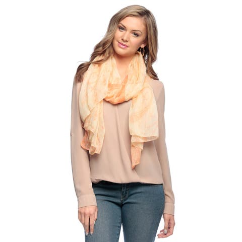 Peach Couture Women's Paisley Print Scarf