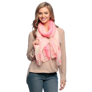 Peach Couture Women's Paisley Print Sarong/ Scarf