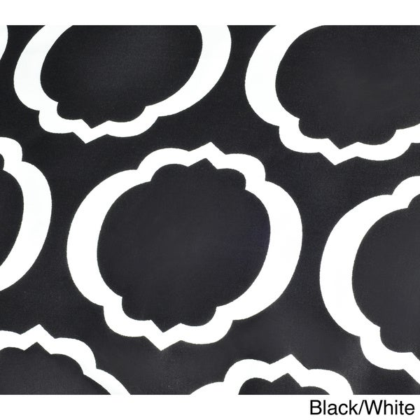 Soft Scroll Park Black Wrinkle Resistant 2-Piece King Pillowcase Set Cotton Blend 600 Thread Count