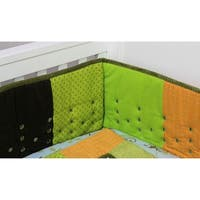 Nurture Imagination Earth Tones Patchwork Airflow Crib Bumper