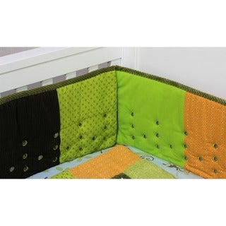 Nurture Imagination Earth Tones Patchwork Airflow Crib Bumper