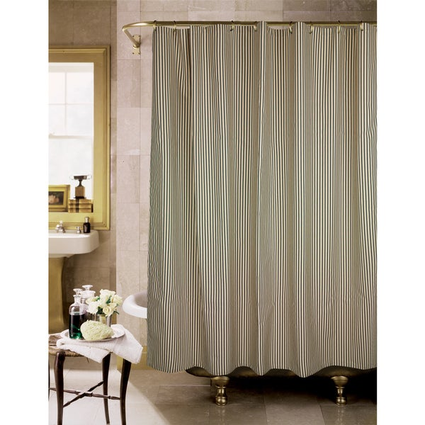 Sorrento Black And Tan Stripe Shower Curtain Free Shipping On Orders Over 45