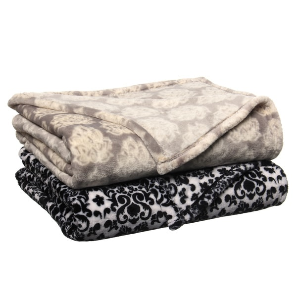 Damascus Luxury Plush Printed Throw