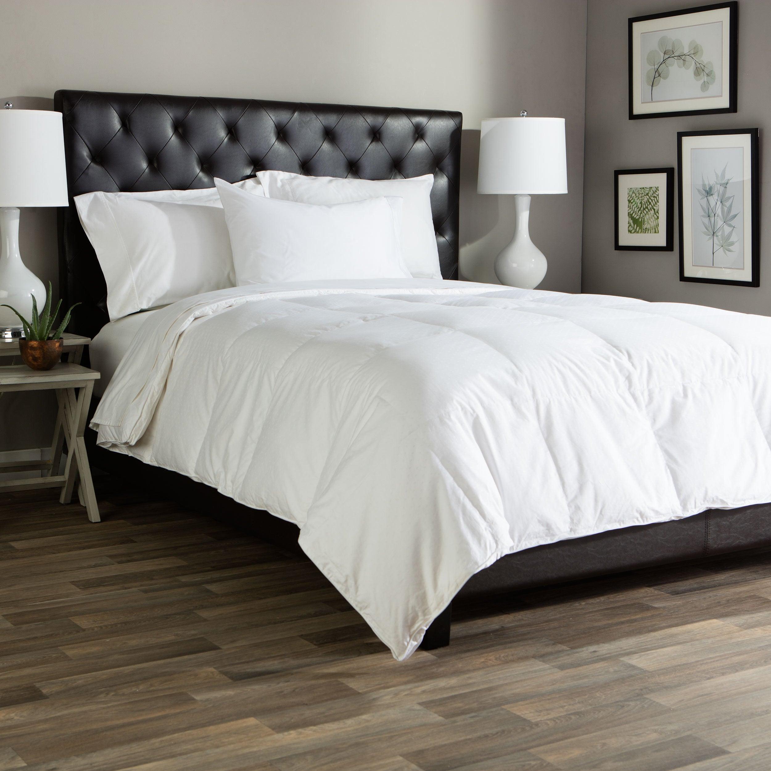 Cozy Classics Superior White Goose Down Comforter Overstock 9032140