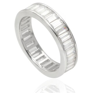 Journee Collection Sterling Silver Cubic Zirconia Eternity Band (5 mm)