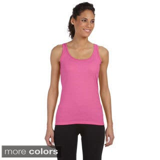Gildan Juniors 'Softstyle' Fitted Tank|https://ak1.ostkcdn.com/images/products/9032407/Gildan-Juniors-Softstyle-Fitted-Tank-P16231809.jpg?impolicy=medium