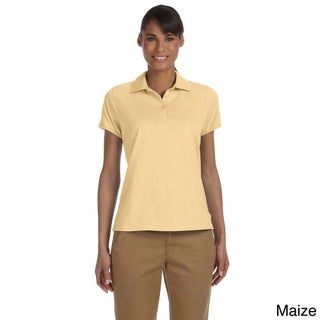 Women's Solid Performance Plus Jersey Polo (5 options available)